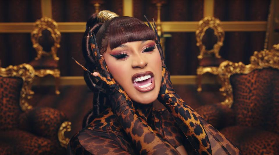 """Cardi B in the """"WAP"""" video. (Photo: HuffPost Canada Owned)"""