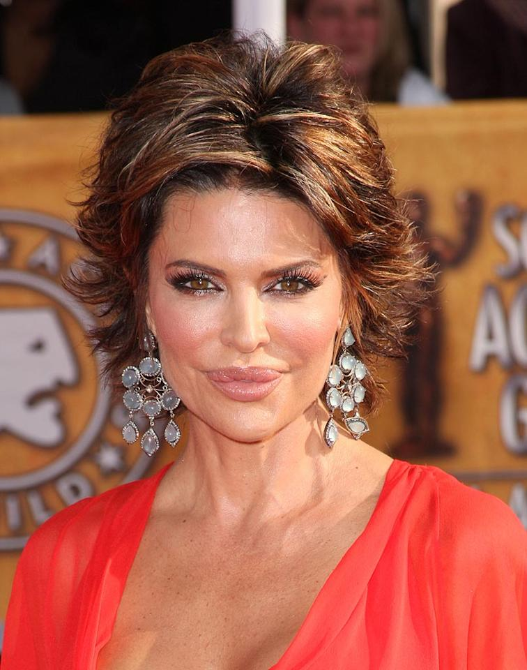 """The results left even Rinna admitting that she looked like """"a freak."""" She's vowed never to do anything that changes the shape of her face again and to stick to the fresh look she feels she gets from Botox. We're just left wondering what's up with her lips. Jason Merritt/<a href=""""http://www.gettyimages.com/"""" target=""""new"""">GettyImages.com</a> - January 25, 2009"""