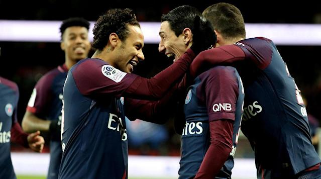 <p>Neymar figured to put up some crooked stat lines when he joined PSG, and Wednesday was one of those days.</p><p>The Brazilian superstar was on one against Dijon, scoring four goals and setting up two more in an 8-0 Ligue 1 thrashing. The result was never in question, with Angel Di Maria scoring a great goal in the fourth minute and tacking on a second in the 15th after Neymar's assist. Edinson Cavani scored PSG's third–and tied Zlatan Ibrahimovic for the club's all-time goal record of 156 in the process–before Neymar took over. </p><p>He scored on a scintillating free kick in the 42nd minute with the goalkeeper rooted to the ground, giving PSG a 4-0 lead to take into the locker room at halftime. </p><p>PSG and Neymar emerged from the break ready for plenty more.</p><p>In the 57th minute, Neymar had a poor clearance attempt fall to his feet in position to score, and he took full opportunity to extend the advantage to 5-0.</p><p>He carved his way through Dijon's multiple hapless defenders in the 73rd minute to make it 6-0.</p><p>Four minutes later he set up Kylian Mbappe to make it 7-0 before capping the scoring and his productive day with a penalty kick in the 83rd.</p><p>PSG is a comfortable 11 points clear of Lyon atop the Ligue 1 table, with 67 goals scored and just 15 conceded 21 league matches after its summer makeover. The four-goal outing gives him 15 on the season and vaults him into third in the league's golden boot race, five behind Cavani, the league leader.</p>
