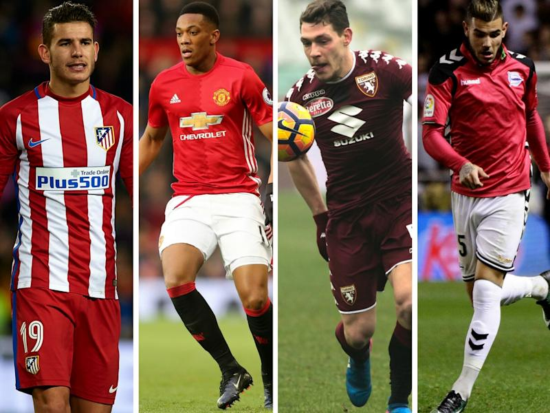 The Hernandez brothers, Martial and Belotti - all targets