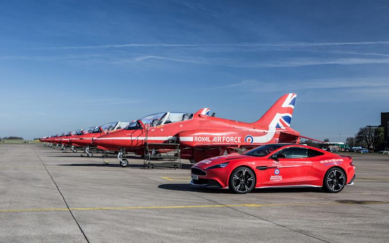 The Aston Martin Vanquish S 'Red Arrows' limited edition car is up for grabs, with raffle tickets costing just £20 - David Hughes Photography Ltd