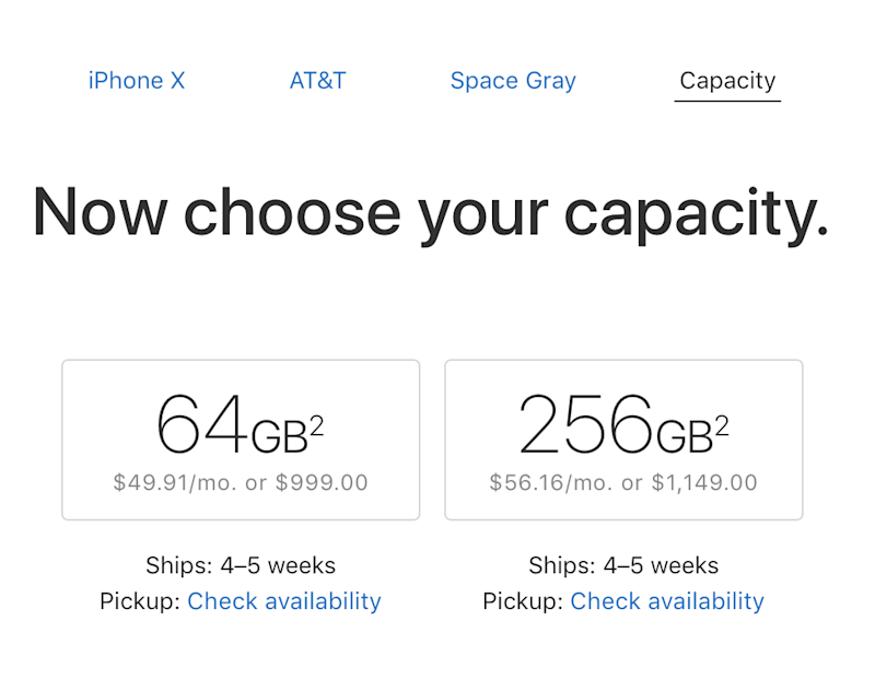 iPhone X preorders