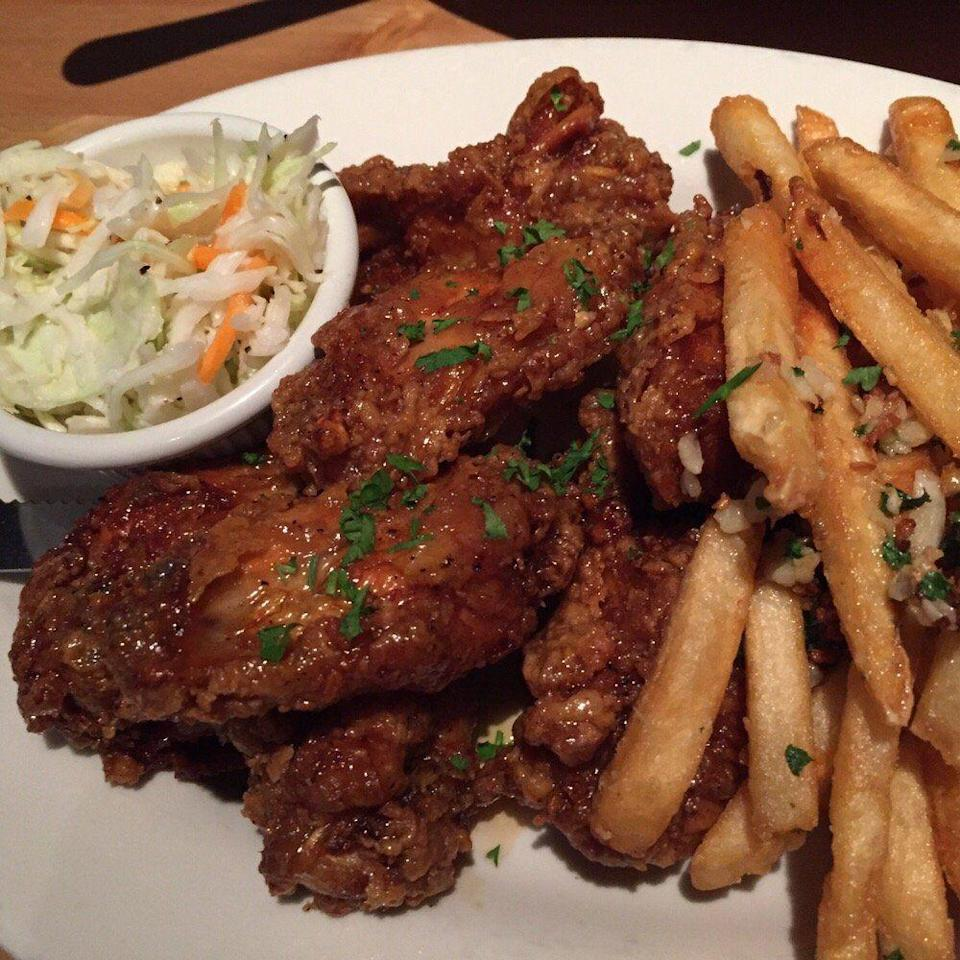 """<p><a href=""""http://www.yelp.com/biz/ivy-tavern-providence"""" rel=""""nofollow noopener"""" target=""""_blank"""" data-ylk=""""slk:Ivy Tavern"""" class=""""link rapid-noclick-resp"""">Ivy Tavern</a>, Providence</p><p>""""Love the place! Everything is always delicious, garlic fries on point and the drinks are strong! Servers work hard, are personable and friendly. Definitely the neighborhood hang out that never disappoints!"""" - Yelp user <a href=""""https://www.yelp.com/user_details?userid=szNRP1PnxbNxnS1v9wen8Q"""" rel=""""nofollow noopener"""" target=""""_blank"""" data-ylk=""""slk:Ama N."""" class=""""link rapid-noclick-resp"""">Ama N.</a></p>"""