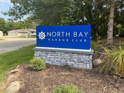 Among the community improvements made at North Bay Harbor Club, by Havenpark Communities, is this new monument sign at the entrance of the community.