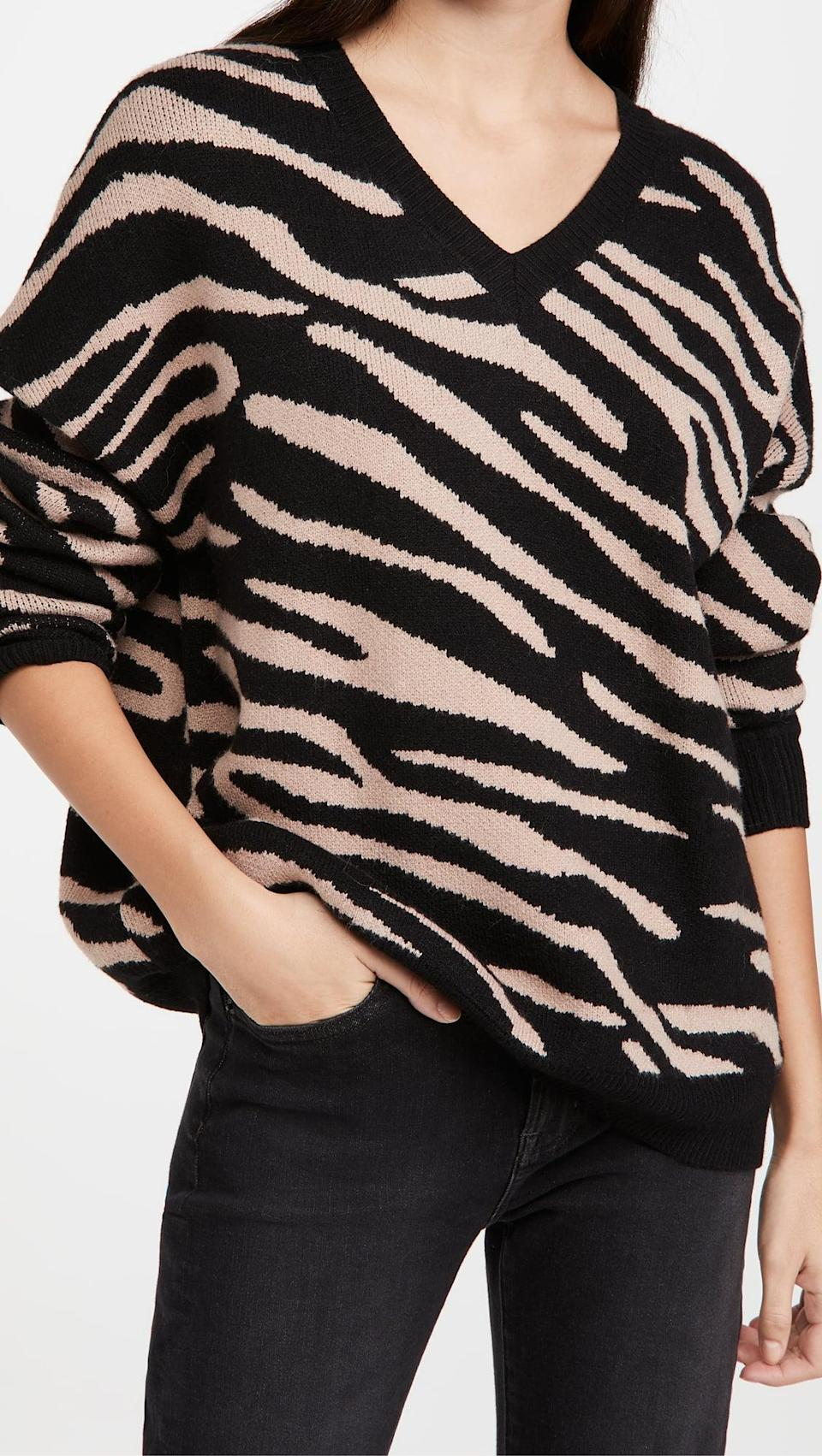 <p>Go for a bold statement with this animal print <span>Beach Riot Joie Sweater</span> ($77, originally $128).</p>