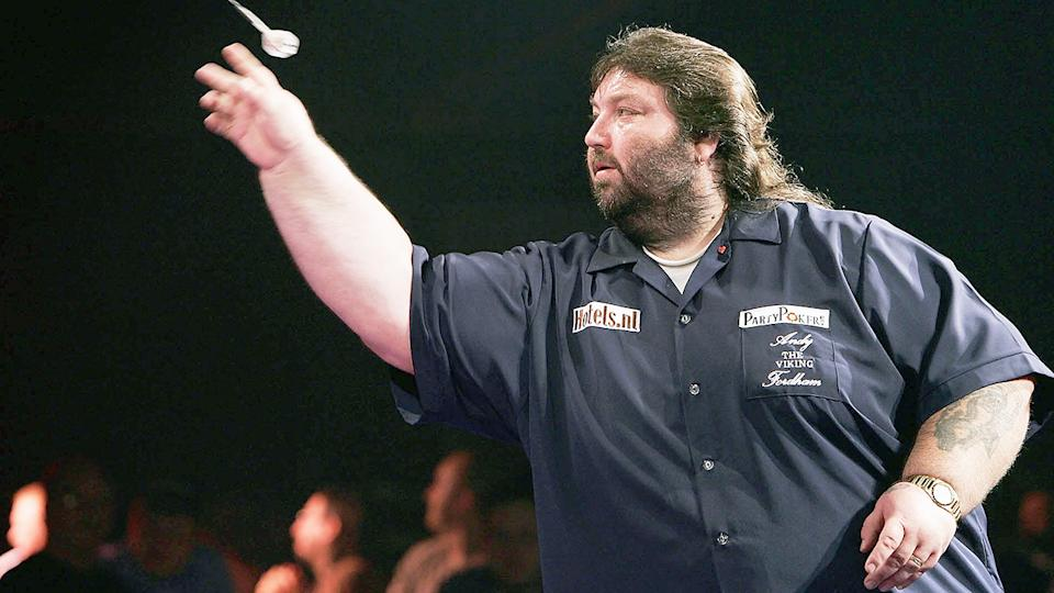 Andy Fordham, pictured here in action against Phil Taylor in 2004.