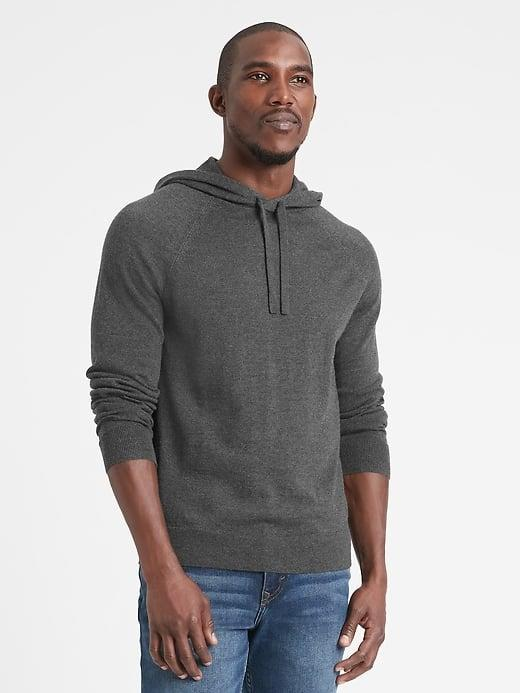 <p>He already lives in his regular hoodie, so why not upgrade him to a cozy-chic <span>Banana Republic Merino Sweater Hoodie</span> ($109) this Christmas?</p>