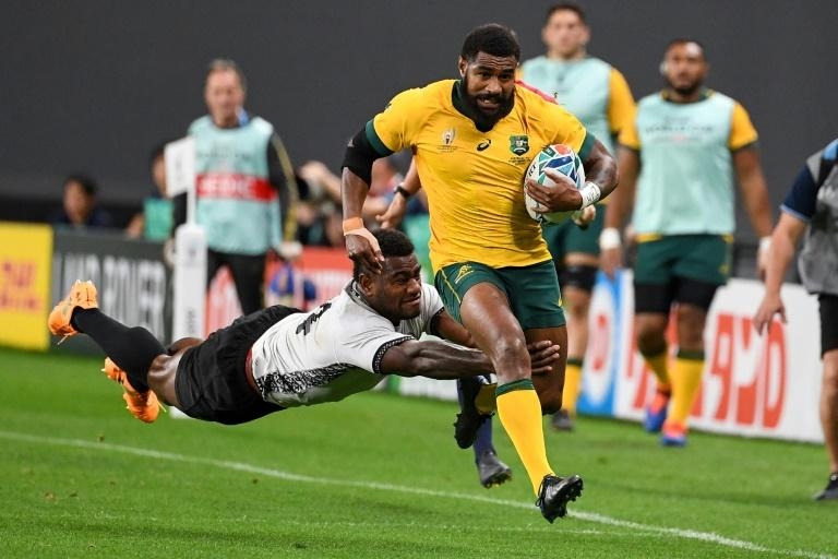 Marika Koroibete scored in the second half as Australia came from behind against Fiji