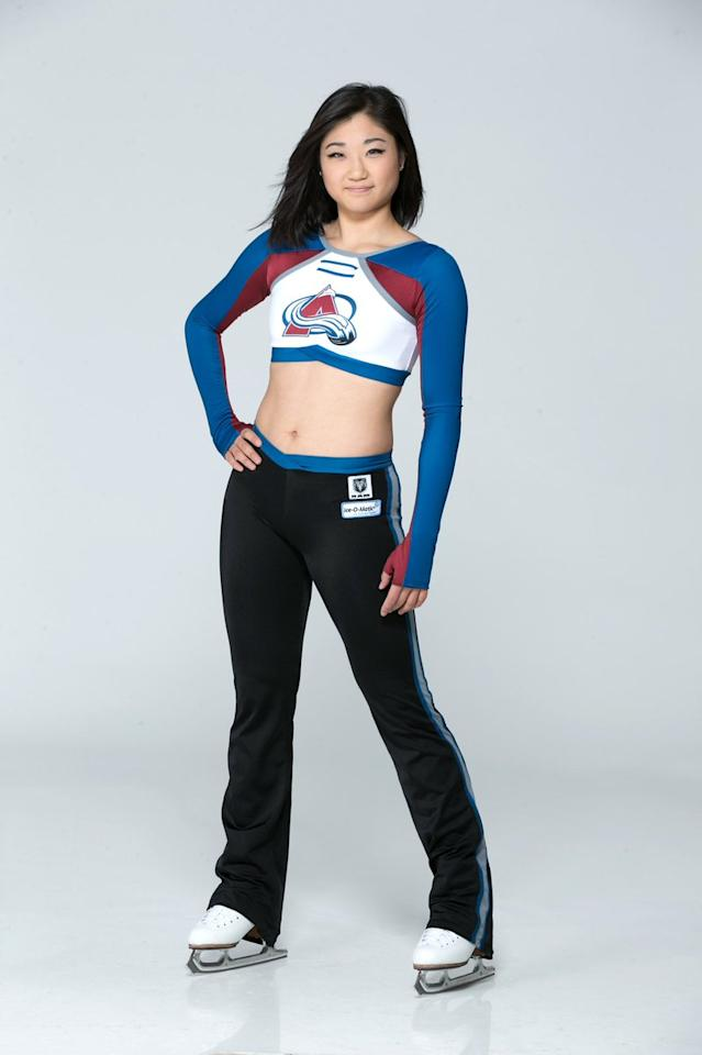 <p>The Avalanche Ice Girls Twitter account posted this photo back in January to congratulate the figure skater on making the Olympic team.. (Photo via Avalanche Ice Girls) </p>