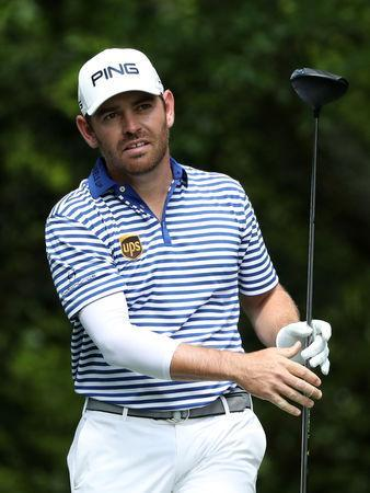 Golf - Masters - Augusta National Golf Club - Augusta, Georgia, U.S. - April 13, 2019 - Louis Oosthuizen of South Africa on 2nd tee during third round play. REUTERS/Jonathan Ernst