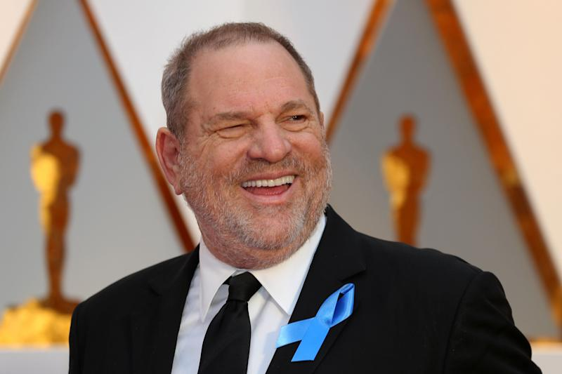 Harvey Weinstein arrives at the 89th Academy Awards in Hollywood on Feb. 26, 2017.