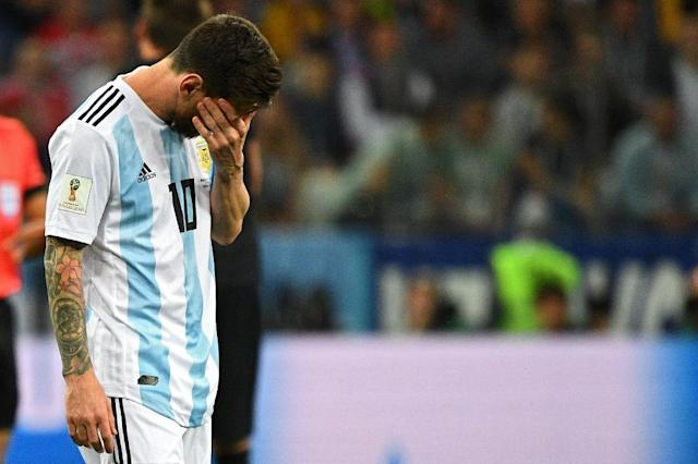 Argentina's Lionel Messi looks set for an early World Cup exit (AFP Photo/Johannes EISELE)