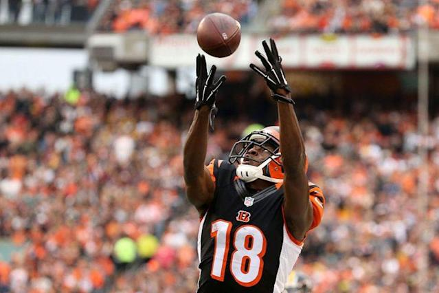"Can <a class=""link rapid-noclick-resp"" href=""/nfl/players/24791/"" data-ylk=""slk:A.J. Green"">A.J. Green</a> avoid the injury bug this year? (Photo by Andy Lyons/Getty Images)"