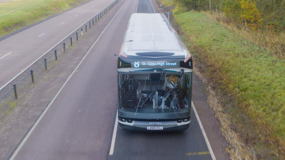 One of Arrival's electric buses being tested in the UK. Photo: Arrival
