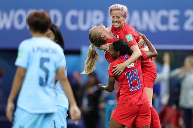 Not everybody was pleased with how the USWNT handled itself during an historic World Cup rout. (Getty)