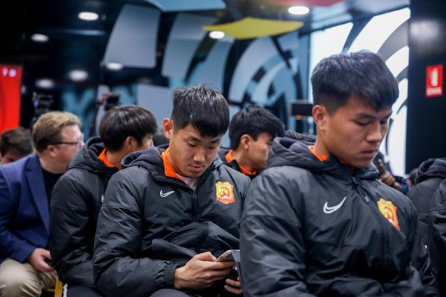 Wuhan Zall FC is expected to return to China on Saturday. (Photo by H.Bilbao/Europa Press via Getty Images)