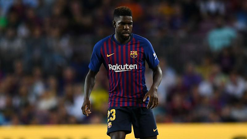 Barcelona send Umtiti to Qatar for treatment on knee injury