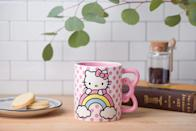 <p>Mornings will look a lot brighter with the <span>Silver Buffalo Hello Kitty Rainbow Dots Shaped Handle Ceramic Mug</span> ($20). If they love all things pink, they'll cherish this mug.</p>