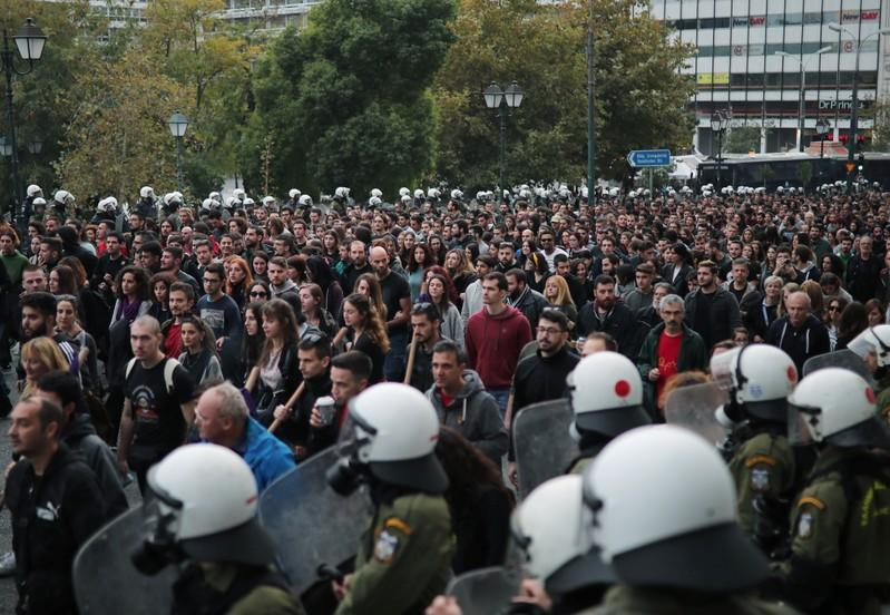 46th anniversary of 1973 Athens Polytechnic student uprising, in Athens