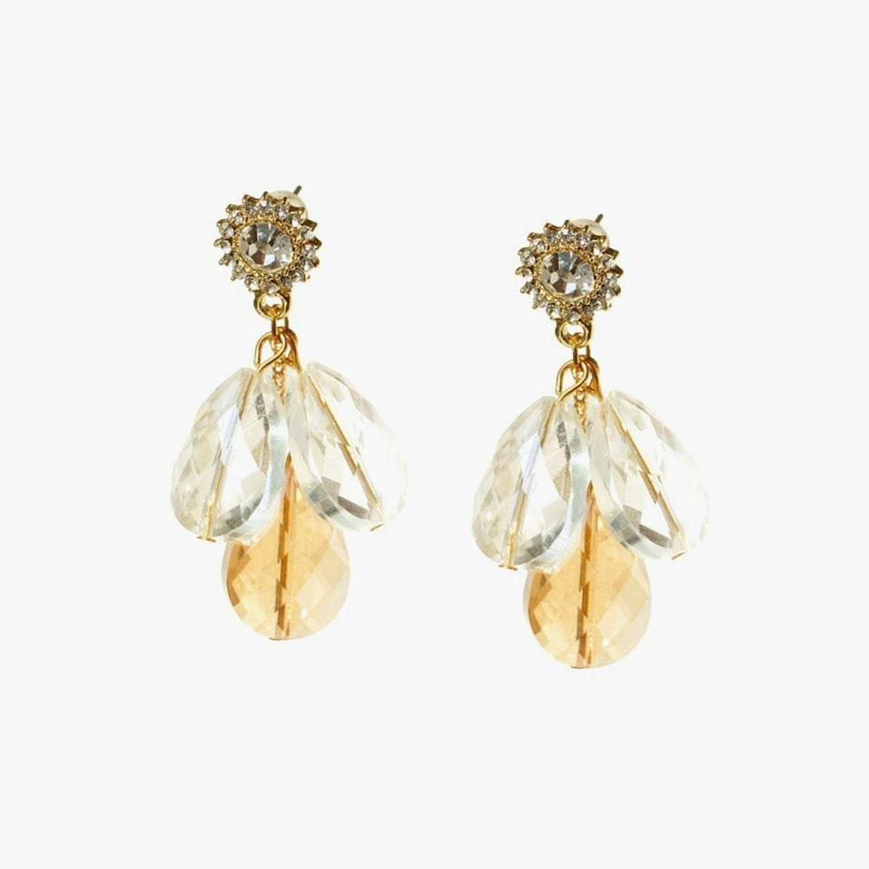 "$104, I'MMANY. <a href=""https://www.immany.co.uk/collections/earrings/products/in-the-dawn-crystal-drop-stud-earrings"" rel=""nofollow noopener"" target=""_blank"" data-ylk=""slk:Get it now!"" class=""link rapid-noclick-resp"">Get it now!</a>"