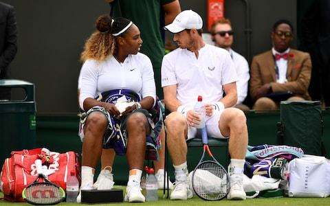 Andy Murray and Serena Williams in action - Credit: PA