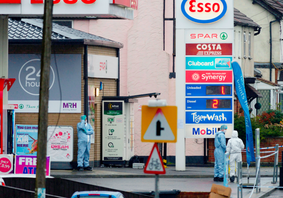 <em>Witnesses reported seeing a body of a man on the floor of the Esso petrol station Collier Row (SWNS)</em>