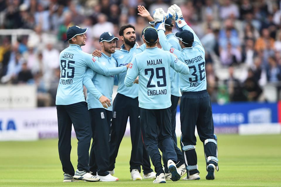 England celebrate a wicket on the way to a comfortable victory (Getty Images)