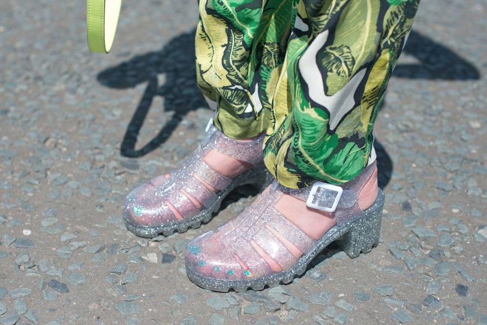 <p>Jellies were a sort of plastic, see-through sandal that kids wore back in the 90s. Admittedly, they were pretty awesome, especially the sparkly ones. Although they attempted a comeback, we'd bet on those disappearing for good this time.</p>