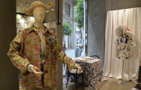Creations of the Arthur Arbesser women's Spring Summer 2022 collection, are displayed during the Fashion Week in Milan, Italy, Saturday, Sept. 25, 2021. (AP Photo/Antonio Calanni)