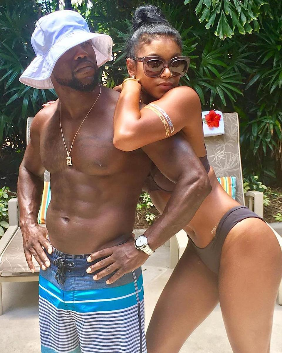 """<p>There are three things the <i>Central Intelligence</i> star really likes in life: going on vacation, showing off his bod, and being with his rib (wife Eniko Parrish). This photo encapsulates all three, <i>and</i> he's wearing a ridiculous hat, so basically this is the dopest picture ever. (Photo: <a href=""""https://www.instagram.com/p/BILBpulBwAT/?taken-by=kevinhart4real"""" rel=""""nofollow noopener"""" target=""""_blank"""" data-ylk=""""slk:Instagram"""" class=""""link rapid-noclick-resp"""">Instagram</a>) </p>"""