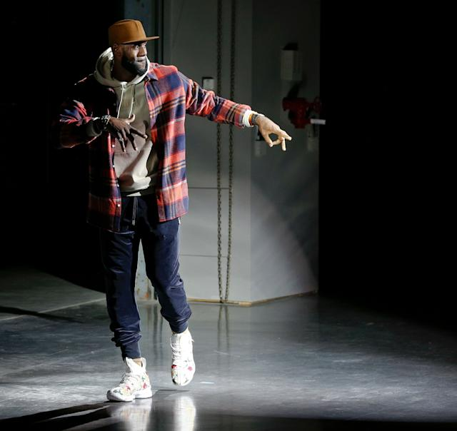 LeBron James closing Kith Sport's show at New York Fashion Week on Sept. 7.