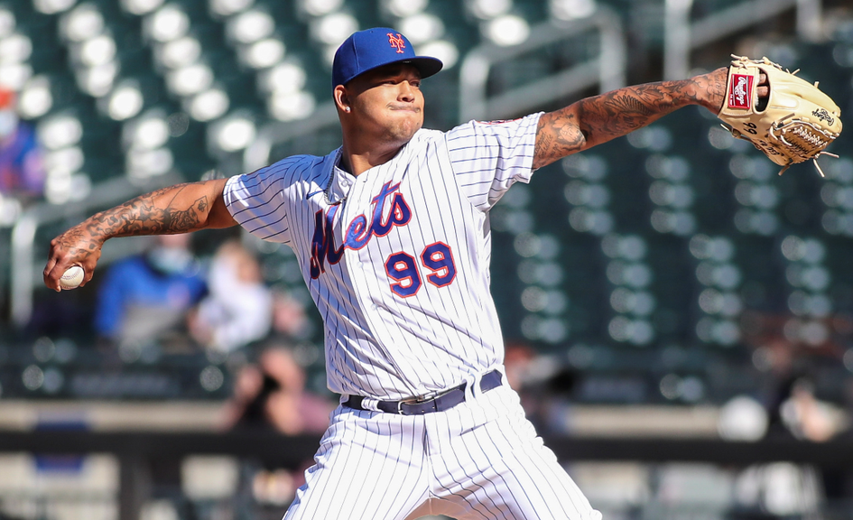 Taijuan Walker throws pitch in home whites third base view day game