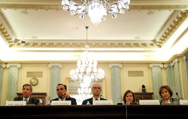 "FILE PHOTO: Federal Trade Chairman and Federal Trade Commissioners testify on the ""Oversight of the Federal Trade Commission"" in Washington"