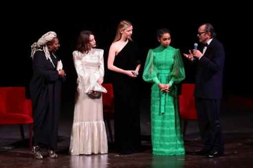 Actresses Whoopi Goldberg, Claire Foy, Mia Goth and Yara Shahidi took part in the presentation event in Verona