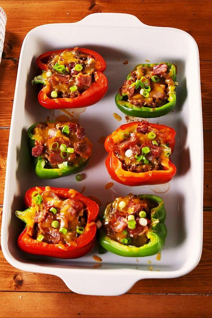 "<p>Taco 'bout a healthy dinner!</p><p>Get the recipe from <a href=""https://www.delish.com/cooking/recipe-ideas/recipes/a51748/taco-stuffed-peppers-recipe/"" rel=""nofollow noopener"" target=""_blank"" data-ylk=""slk:Delish"" class=""link rapid-noclick-resp"">Delish</a>.</p>"