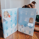 """<p><strong>Bark </strong></p><p>barkshop.com</p><p><strong>$14.99</strong></p><p><a href=""""https://barkshop.com/products/seasons-treatings-treat-calendar"""" rel=""""nofollow noopener"""" target=""""_blank"""" data-ylk=""""slk:Shop Now"""" class=""""link rapid-noclick-resp"""">Shop Now</a></p><p>Seasons treatings! Made with rolled oats, cinnamon and natural vanilla flavor, these holiday-shaped treats definitely sound like something Rudolph would approve of – and your best pal will love 'em, too!</p>"""