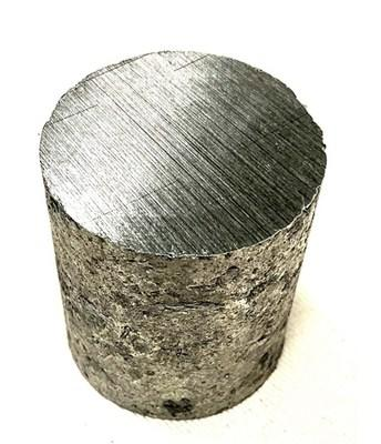 Aluminum-Scandium master alloy produced at the U.S. Department of Energy's Ames Laboratory by Ames researchers and NioCorp engineers.