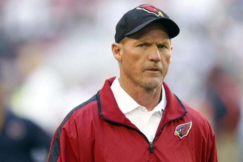 FILE - In this Dec. 23, 2012, file photo, Arizona Cardinals head coach Ken Whisenhunt appears before an NFL football game against the Chicago Bears in Glendale, Ariz. The Cardinals fired Whisenhunt Monday, Dec. 31, after six seasons that included the long-suffering franchise's only Super Bowl appearance. (AP Photo/Paul Connors, File)