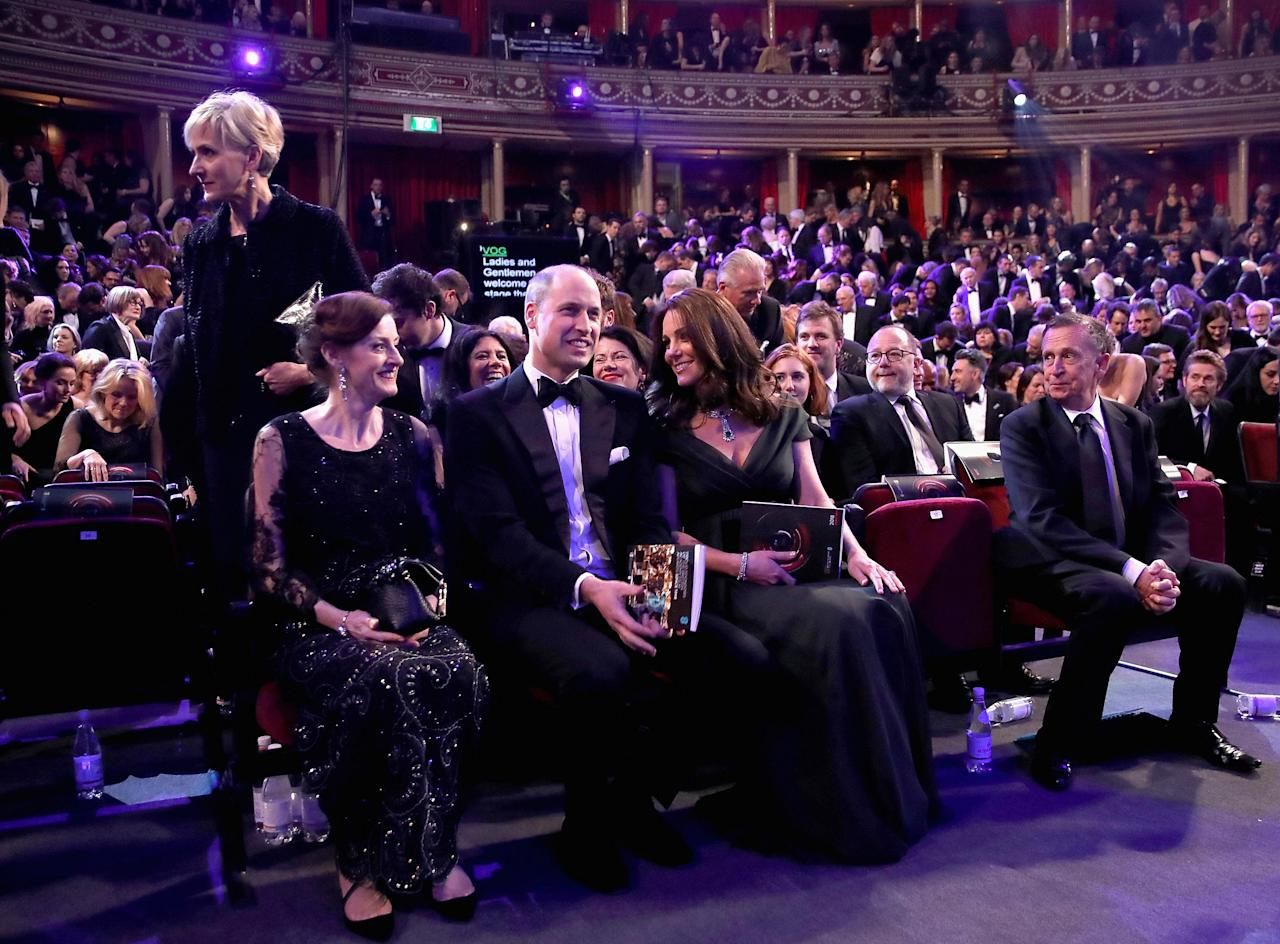 Prince William, Duke of Cambridge and Catherine, Duchess of Cambridge attend the British Academy Film Awards (BAFTA) at the Royal Albert Hall in London, Britain February 18, 2018. Picture taken February 18, 2018.  REUTERS/Chris Jackson/Pool
