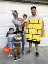"""<p>This is an adorable idea for larger families because luckily for Dorothy, she meets a bunch of friends on the way to see the Wizard of Oz. Plus, the yellow brick road can be a costume too.</p><p><em><a href=""""http://somekindamama.com/"""" rel=""""nofollow noopener"""" target=""""_blank"""" data-ylk=""""slk:See more at Some Kinda Mama>>"""" class=""""link rapid-noclick-resp"""">See more at Some Kinda Mama>></a></em></p>"""