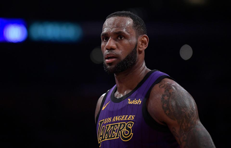 LeBron James knows his time in a Lakers uniform will impact his legacy and is reminding Magic Johnson of the stakes this summer. (AP)