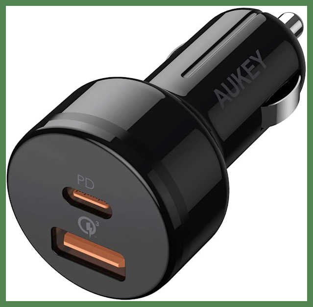For Prime members only: Save $3 on this AUKEY Smartphone Car Charger. (Photo: Amazon)