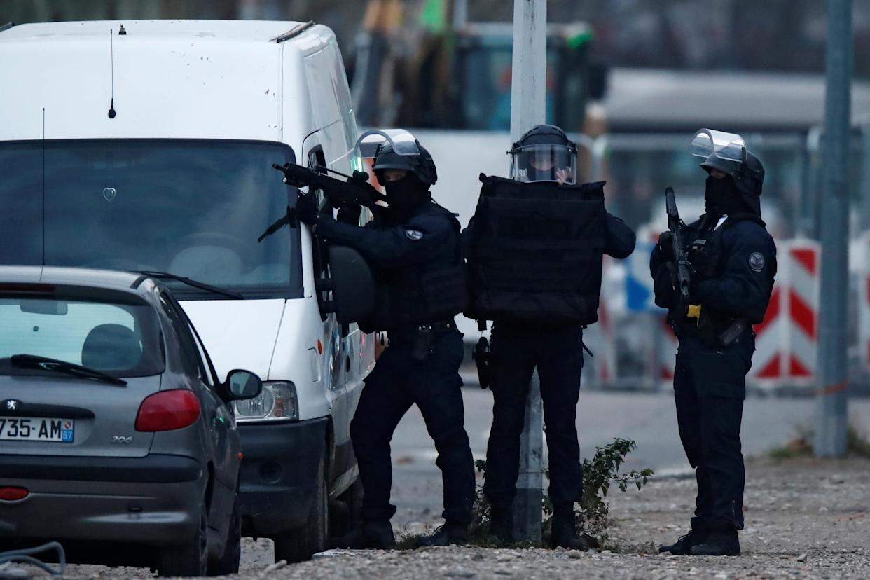 French special police forces secure an area during a police operation in the Meinau district after the deadly shooting in Strasbourg, France, Dec.13, 2018. (Photo: Christian Hartmann/Reuters)