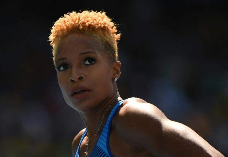 USA's Natasha Hastings, pictured in August 2016, has four 4x400m world outdoor titles, three indoor championship golds, and two Olympic golds among her 17 relay medals