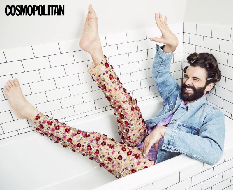 Jonathan Van Ness in Cosmopolitan. [Photo: Rachell Smith/PA Wire]