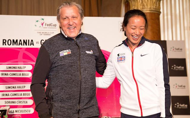 <span>Ilie Nastase madeAnne Keothavong (right) feel uncomfortable</span> <span>Credit: GETTY IMAGES </span>