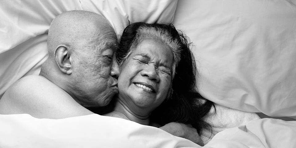 A Relate campaign shot by Rankin is opening up the conversation about later years intimacy. (Rankin/Relate)