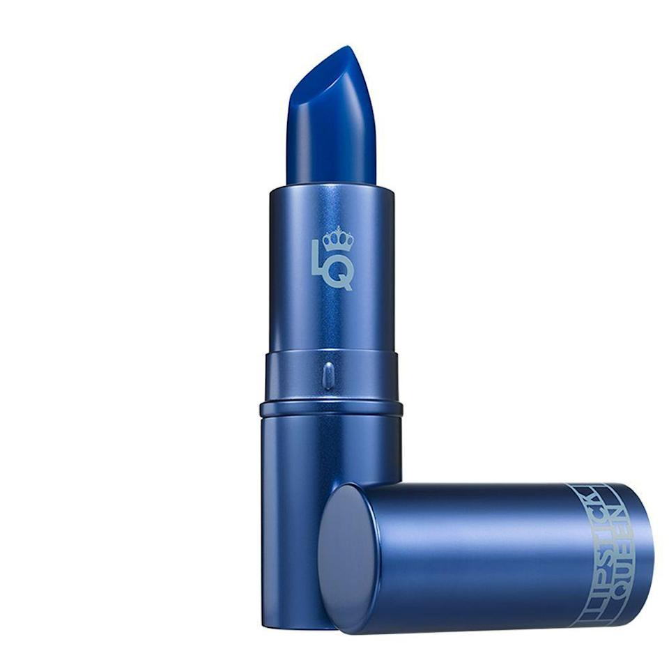 """<p><strong>Lipstick Queen</strong></p><p>amazon.com</p><p><strong>$25.00</strong></p><p><a href=""""https://www.amazon.com/dp/B00DNA0KD6?tag=syn-yahoo-20&ascsubtag=%5Bartid%7C2089.g.3023%5Bsrc%7Cyahoo-us"""" rel=""""nofollow noopener"""" target=""""_blank"""" data-ylk=""""slk:Shop Now"""" class=""""link rapid-noclick-resp"""">Shop Now</a></p><p>For Wednesday's signature barely-there vamp lip, try this sheer formula. It appears a deep navy blue in the tube, but when applied, it gives off a striking purple tint you'll want to wear again and again.</p>"""