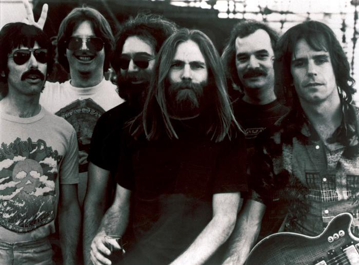 "Members of the Grateful Dead,L-R, Mickey Hart, Phil Lesh, Jerry Garcia, Brent Mydland, Bill Kreutzmann, and Bob Weir. Grateful Dead drummer Mickey Hart says he and other members of the band never really understood the forces that turned them into a 30-year cultural phenomenon.  ""It was an alchemical thing,"" Hart said. ""It's for other people to decide our fate in history, our place in the culture."" That is exactly why fans, followers and some of those who were in the inner circle of the Grateful Dead plan to travel to the University of Massachusetts for three days in November. This is no music festival. (AP Photo/File)"