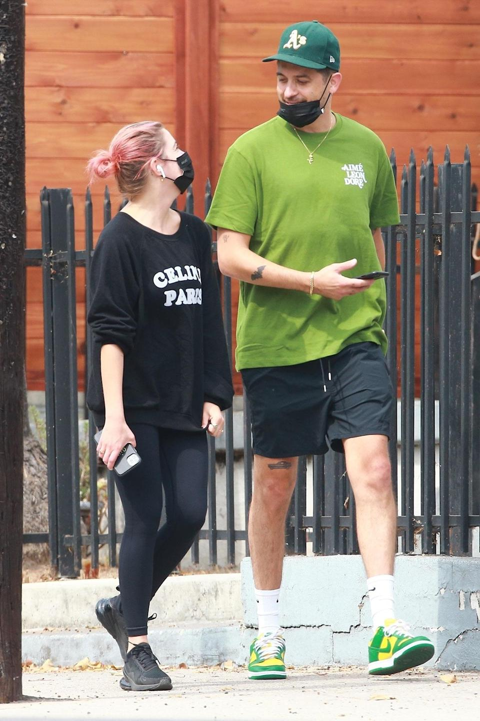 <p>Ashley Benson and G-Eazy stepped out for a coffee run in Los Angeles.</p>